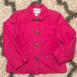 Chico's pink coat